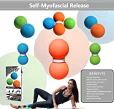 LAX Stars Ultimate Peanut Massage Ball for Myofascial Release | Double Lacrosse Ball for Trigger Point Therapy, Foot & Pain Relief | Yoga Therapy Double-Ball | Relieve Muscle Nots, Tension & Soreness