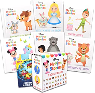 My First Stories Disney Board Books ~ 6 Disney Story Books for Toddlers, Kids, Babies with Mickey Mouse Stickers | Disney ...