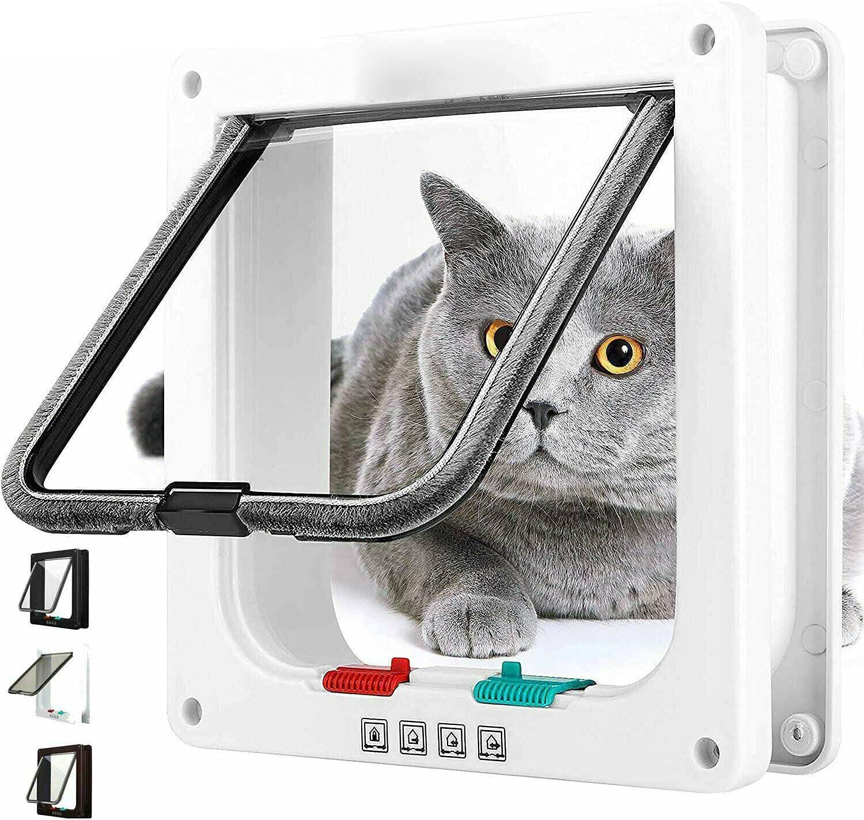 ATING Pet Door Frame Safe 4 Way Large Dog Cat Flap Regular store Magnetic Lock Online limited product