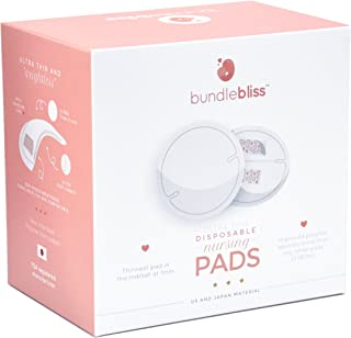 Thinnest Pads Ever. Bundlebliss Disposable Ultra Thin Nursing Breast Pads. 60 Highly Absorbent Breastfeeding Milk Pads.