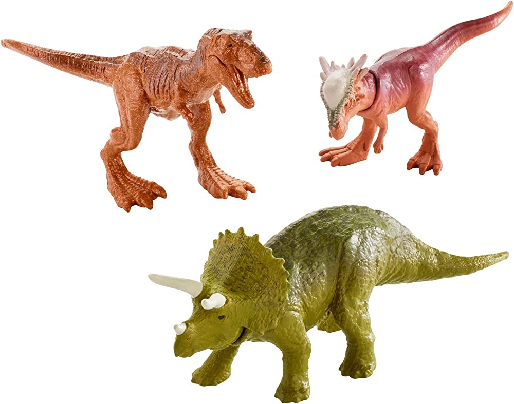 Matteljurassic world, mini dino pack 3 pz,dinosauri FPN84
