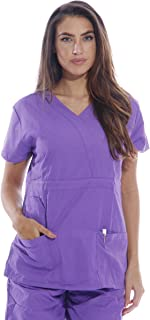 23302W-T-XL Dreamcrest Scrub Tops/Scrubs Purple