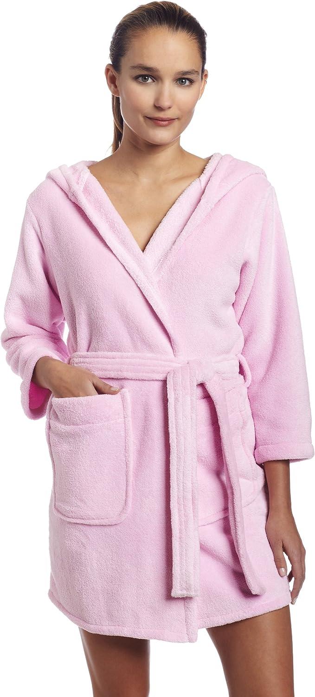 Intimo Women's Plush Fleece Hooded Robe