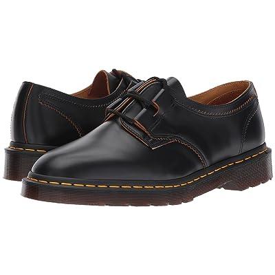 Dr. Martens 1461 Ghillie Shoe (Black Vintage Smooth) Shoes