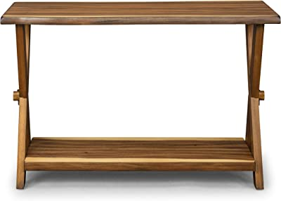 Amazon Com Best Choice Products 47in 3 Shelf Modern Decorative Console Accent Table Furniture For Entryway Living Room Brown Furniture Decor