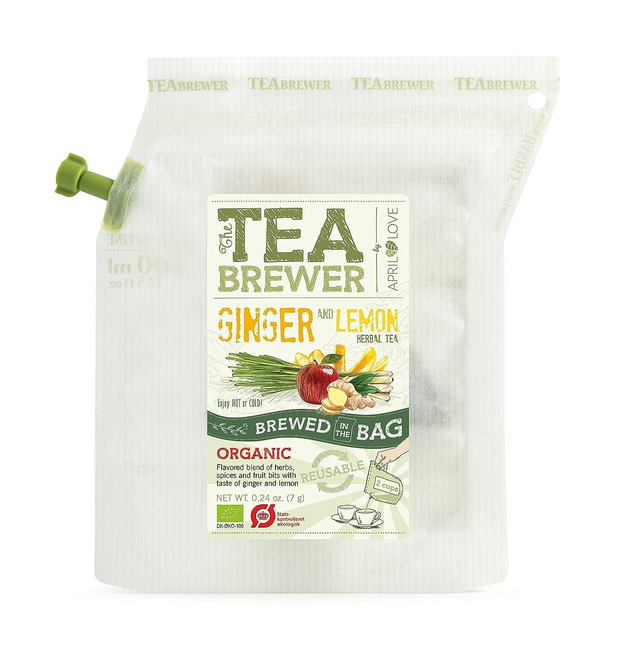 日常的にシダギネスティーブリュワー(TEA BREWER) 有機ジンジャー&レモン ハーブティー