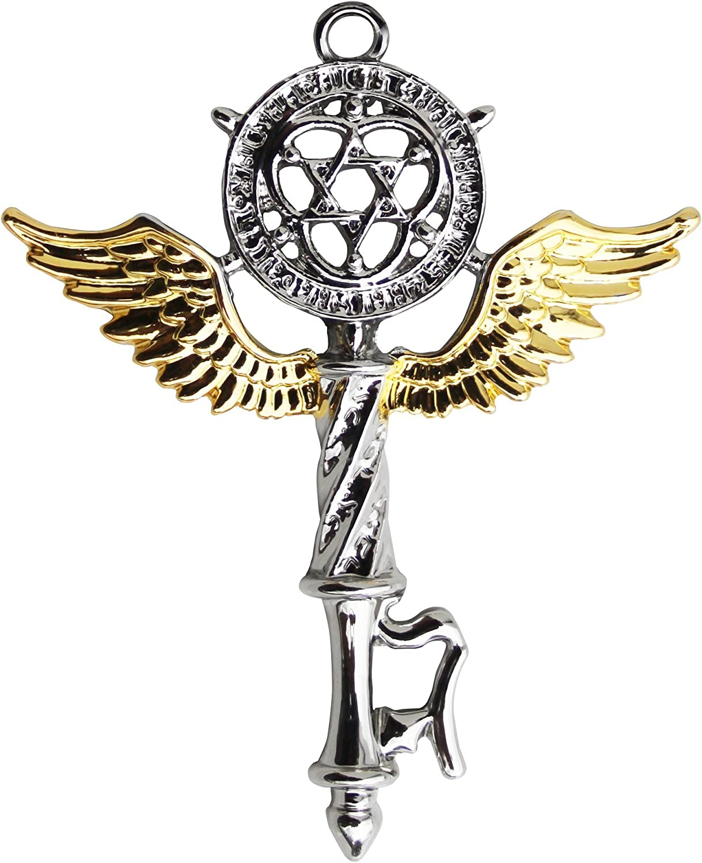 Enchanted Jewelry Mystic Kabbalah Key of Solomon for Protection of Mind & Spirit Pendant Charm Talisman Necklace