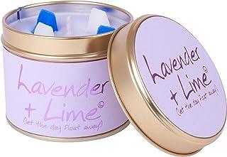ユリ炎ラベンダー、ライムの香りのキャンドルスズ (Lily-Flame) - Lily-Flame Lavender and Lime Scented Candle Tin [並行輸入品]