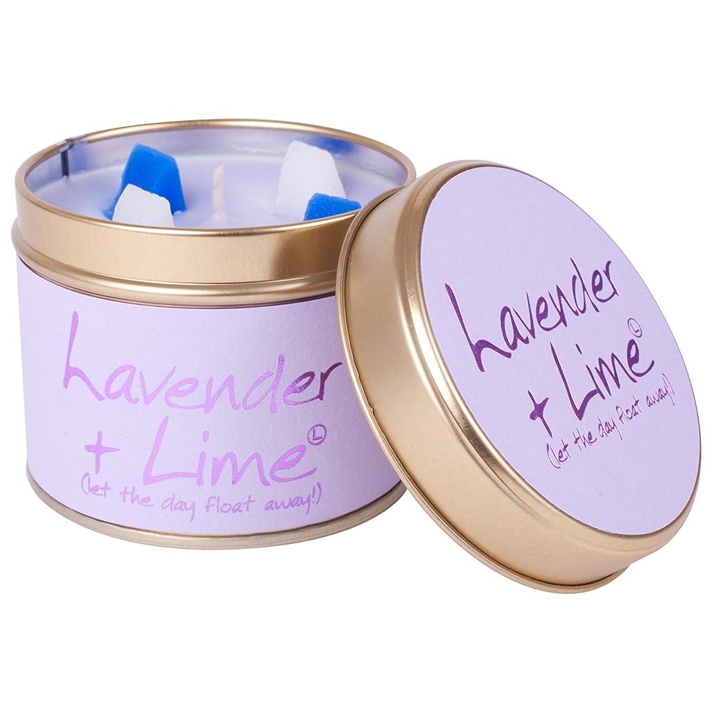 判読できないラフレシアアルノルディ系統的Lily-Flame Lavender and Lime Scented Candle Tin (Pack of 6) - ユリ炎ラベンダー、ライムの香りのキャンドルスズ (Lily-Flame) (x6) [並行輸入品]
