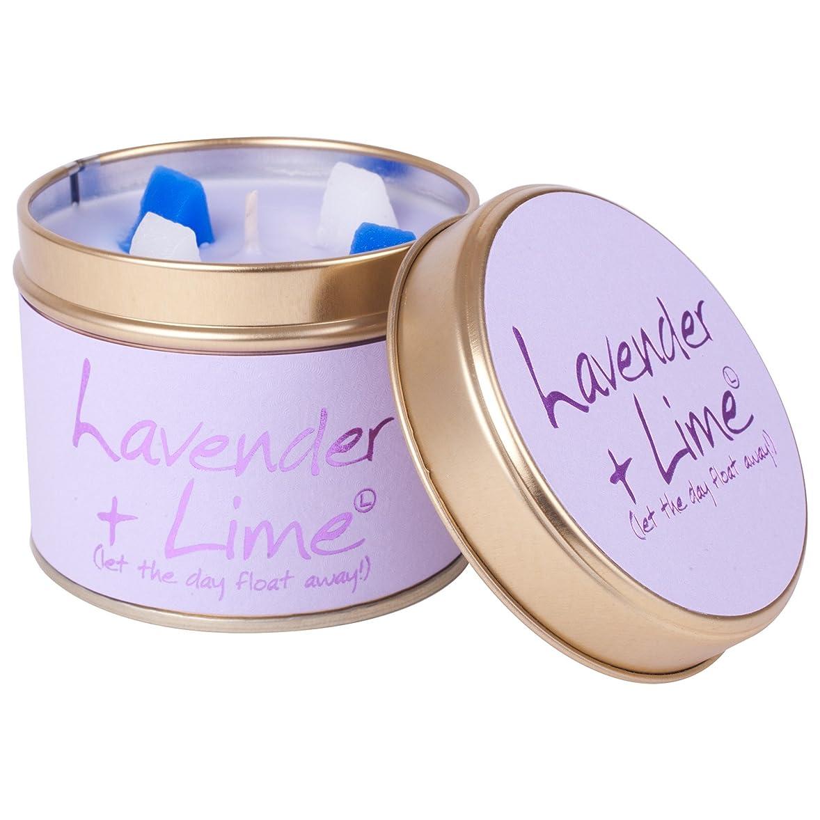 時折哲学者びっくりしたLily-Flame Lavender and Lime Scented Candle Tin (Pack of 2) - ユリ炎ラベンダー、ライムの香りのキャンドルスズ (Lily-Flame) (x2) [並行輸入品]