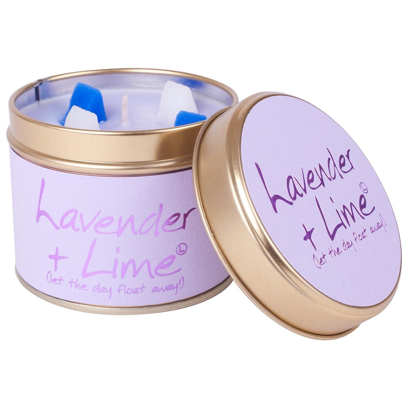 熟読する摂氏度経済的Lily-Flame Lavender and Lime Scented Candle Tin (Pack of 2) - ユリ炎ラベンダー、ライムの香りのキャンドルスズ (Lily-Flame) (x2) [並行輸入品]