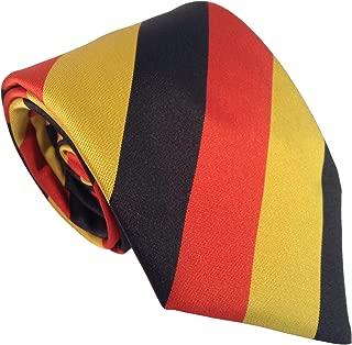Men's German Germany National Flag Striped Neck Tie