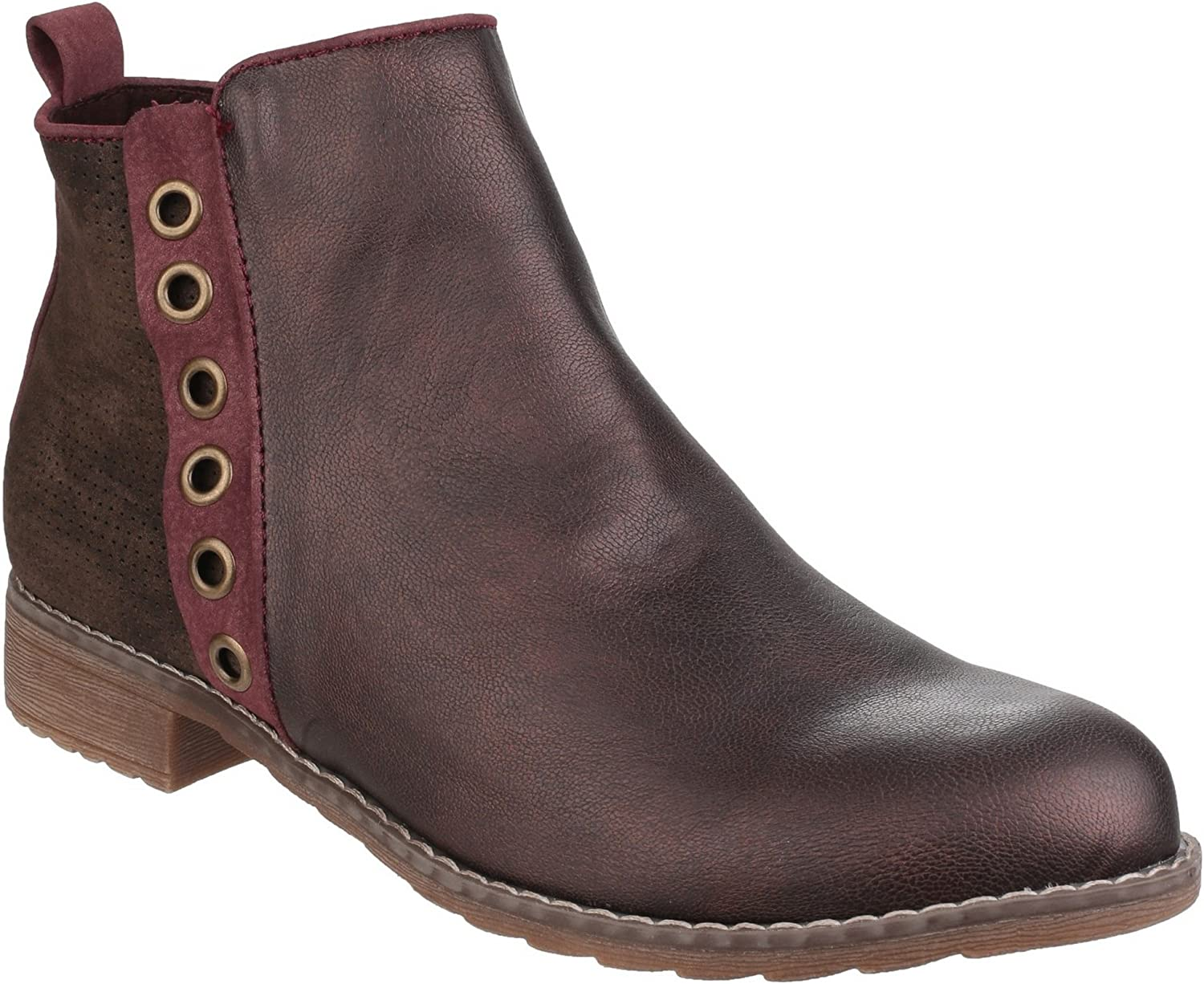 Divaz Womens Demi Pull On Ankle Boot