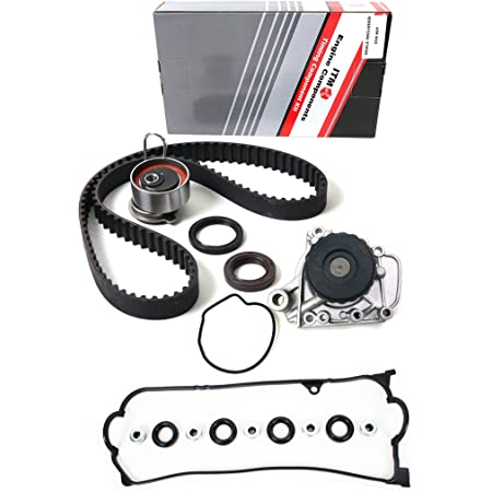 2001-2005 Honda Civic Replace OE TCKWP312 HENYAS Timing Belt Kit With Water Pump Component Compatible with 2001-2005 Acura EL