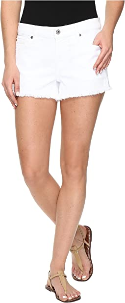 Cut Off Shorts in Clean White