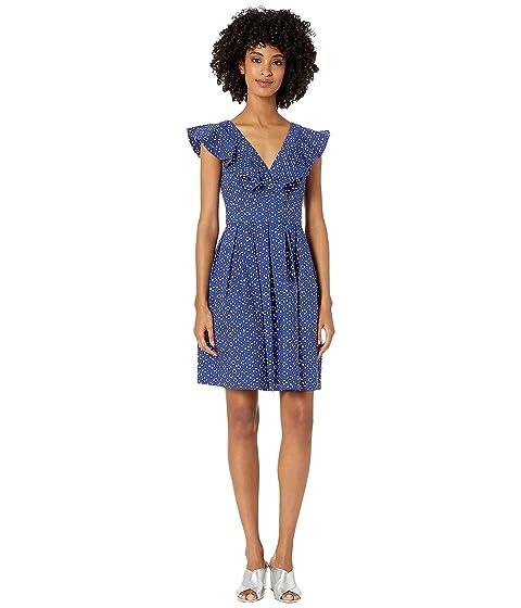 Kate Spade New York Geo Dot Poplin Dress