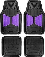 FH Group F11313 Monster Eye Full Set Rubber Floor Mats, Purple/Black Color- Fit Most Car, Truck, SUV, or Van