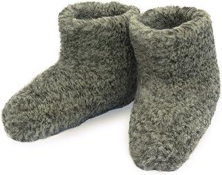 Men's Merino Wool Boots Warm Cozy Slippers Moccasins CHUNI Grey - UK Size: 3, 4, 5, 6, 7, 8, 9, 10, 11