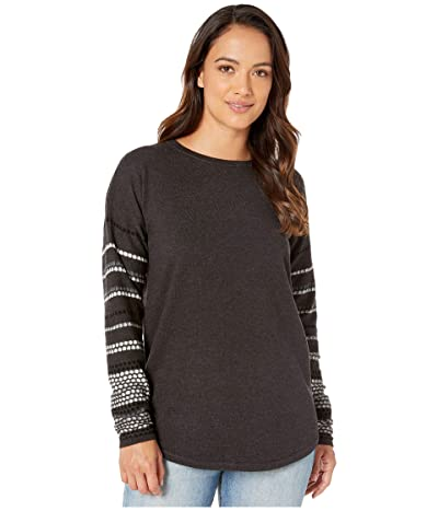 Smartwool Shadow Pine Crew Sweater (Charcoal Heather) Women