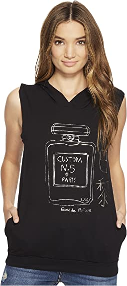 Perfume Gunmetal Foil on Sleeveless Hoodie