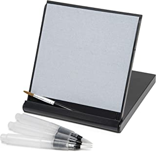 Mini Zen Satori Board - Paint with Water, Meditation & Mindfulness Practice, Great for Classrooms, Includes (3) Water Brushes