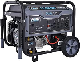 Pulsar G12KBN Heavy Duty Portable Dual Fuel Generator - 9500 Rated Watts & 12000 Peak Watts - Gas & LPG - Electric Start -...