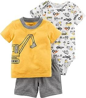 Carter's 男婴 3 件套短裤套装 Yellow Construct 24 Months
