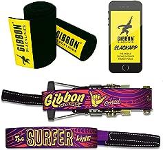 Gibbon Slacklines Surferline with treewear, Purple, 98ft(90ft line + 8ft Ratchet Strap with Reinforced Loop) incl. Ratchet Protection, Tree and line Protection (Black Felt) 50mm/2