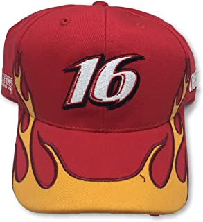Checkered Flag Sports Greg Biffle #16 Adult Flames Adjustable Cap Hat Red