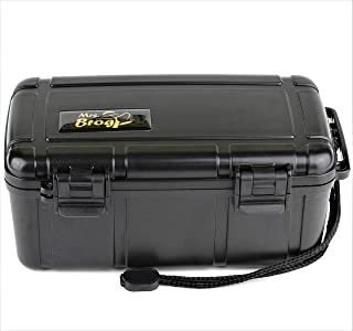 Mrs. Brog Waterproof Travel Cigar Humidor Case - Black - Holds up to 15 Cigars