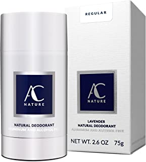 AC NATURE Lavender Natural Deodorant Stick Infused with Vitamin E - High Performance & Toxic Free - (Regular: Original Strength, 1pc)