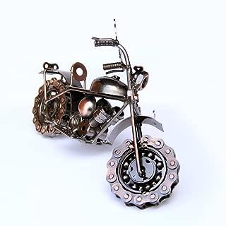 Trebisky Collectible Art Sculpture Die Cast Harley Davidson Scrap Metal Motorcycle (Copper Chopper)
