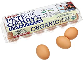 Pete & Gerry's, Organic Cage-Free Omega-3 Large Grade A Brown Eggs, 12 ct, 1 dozen
