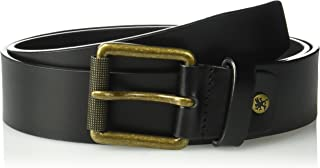 حزام رجالي من Stacy Adams مصنوع من الجلد الطبيعي مقاس 38 ملم مع إبزيم دوار من النحاس