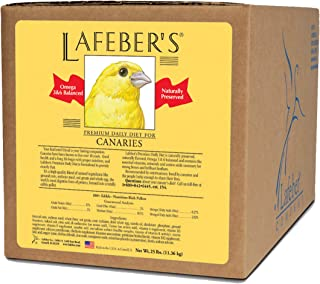 LAFEBER'S Premium Daily Diet Pellets Pet Bird Food, Made with Non-GMO and Human-Grade Ingredients, for Canaries, 25 lb