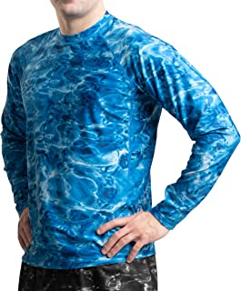 Aqua Design Rash Guard Men: Swim Shirts for Mens UV Long Sleeve Rashguard