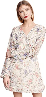 cupcakes and cashmere womens lulani printed dress with trim inserts Dress