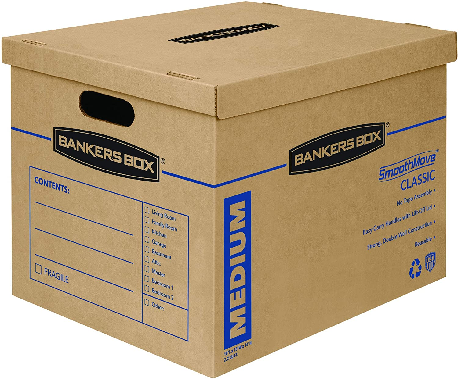 Reservation Bankers Box SmoothMove Classic Max 65% OFF Moving Assembly Boxes Tape-Free