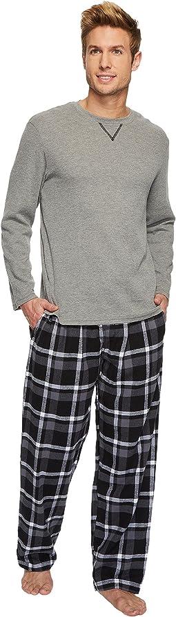 Flannel Sleep Pants & Jersey Henley Box Set