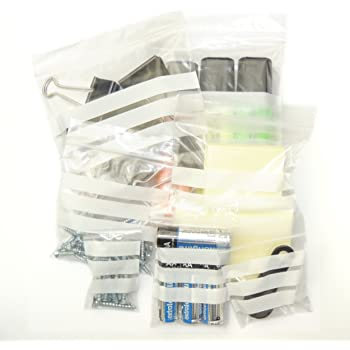 """3/"""" x 7.5/"""" WRITE ON PANEL STRIPS GRIP SEAL CLEAR BAGS RESEALABLE POLY PLASTIC"""
