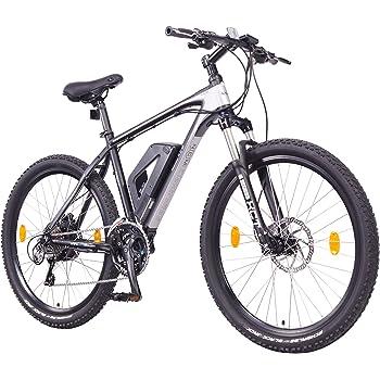 "NCM Prague+ 36V, 26""Zoll E-MTB, Mountainbike E-Bike, 250W Bafang Heckmotor, 14Ah 504Wh Akku + Panasonic Li-Ion Zellen, hydraulische Tektro Scheibenbremsen, 24 Gang Schaltung, Designer Rahmen, schwarz"