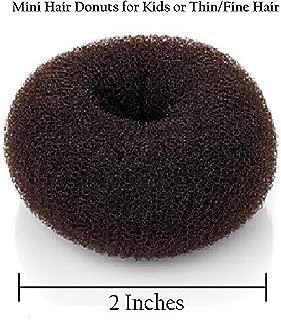 Beaute Galleria Hair Donut Bun Maker Ring Style Mesh Chignon Ballet Sock Bun (Mini, Brown)
