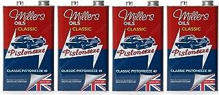 Millers Classic Pistoneeze 40 Aceite de Motor Monograde ZDDP, bajo detergente, 20 litros