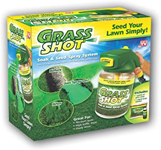 Grass Shot by Bulbhead - The Ultimate Home Hydro Seeding System, Liquid Spray Seed Lawn Care