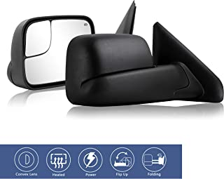 HF autoparts 2pcs Towing Mirrors Replacement Fit for 02...