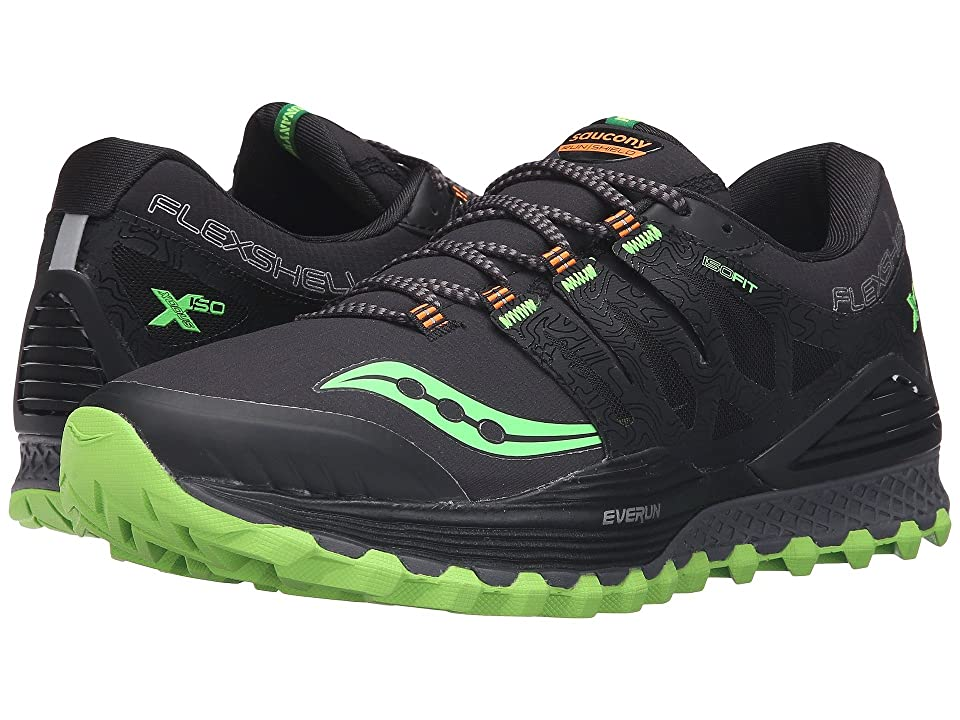 Saucony Xodus ISO Runshield (Black/Slime/Vizipro Orange) Men