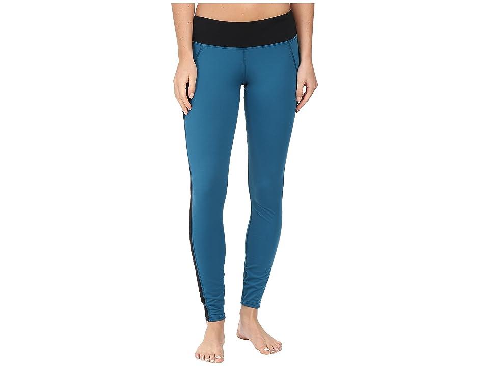 Hot Chillys MTF Flex Leggings (Lagoon/Black) Women