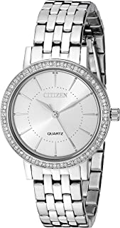 Citizen Women White Dial Stainless Steel Band Watch - EL3040-80A