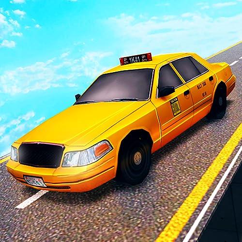 Crazy Taxi Mega Ramp Stunt Extreme Simulation 3D: Coche de conducción y...