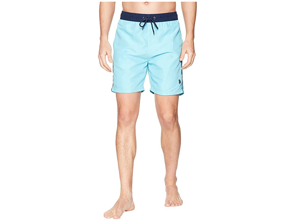 U.S. POLO ASSN. Contrast Waistband Swim Short (Swimming Blue) Men's Swimwear